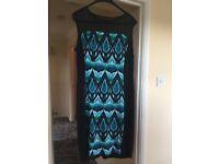 Dress - blue pattern 16-18