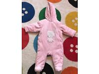 Baby snow suits 0-3 months very soft