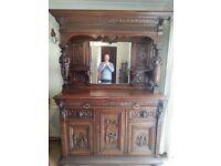 Very nice heavy carved dresser