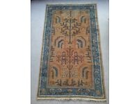 Antique, Handknotted, Wool, Oushak Rug