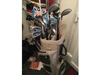 Practically new howson clubs, Trilogy bag and mixed woods