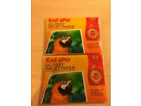 Kod-aPer Glossy Inkjet Paper A6 25 sheets (plus 8 from open packet) BNIP