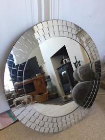 Mirror with mosaic design 65cm