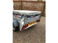 Erde 102 tipping trailer.