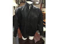 Nice Men's Vintage Union River Real Leather Jacket in Black - Medium
