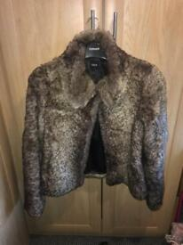 Leopard prom fur coat size medium