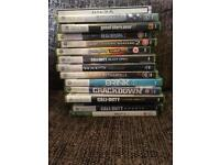 Xbox 360 slim 250g and 17 games headset +chat pad