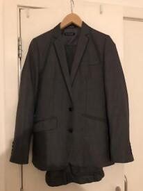Boys Dark Grey 3 Piece Suit Age 13