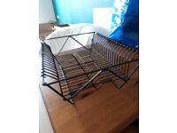 IKEA black dish rack