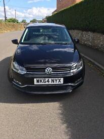 Black VW Polo 5dr Bluemotion