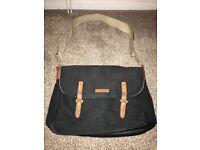 Storksak changing bag in Black and Tan