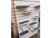 Slat wall- storage system for garage/ workshop/ shed/ office.