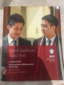 CIMA Textbook, Fundamentals of Management Accounting (C01)