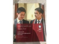CIMA Textbook, Fundamentals of Management Accounting (C01)