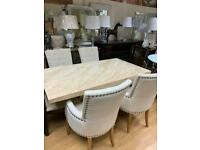 5ft marble effect dining table and chairs