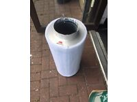 """Cheshunt Hydroponics Store - used 6"""" Rhino Pro carbon filter 150/600"""