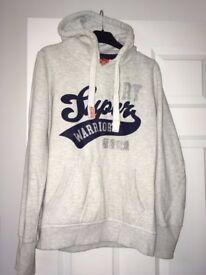 Ladies Superdry hoodie - Cream - Size M