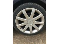 "Audi TT 18"" alloys and tyres"