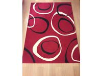Red, White and Black Lounge Rug