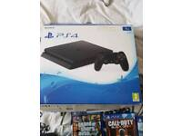 Ps4 in black 1tb with one controller all leads an box