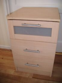 Bedside Drawers with 3 draws