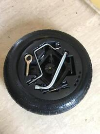 Fiat punto spare wheel with parts