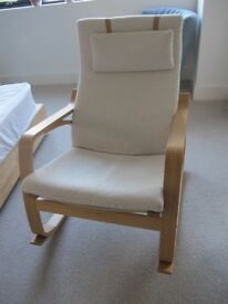 IKEA POANG Rocking chair. Beige covers. Pristine condition.