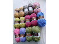 Beautiful knitting yarns.