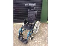 Teen/ small Invacare wheelchair fits in car boot kids wheel chair