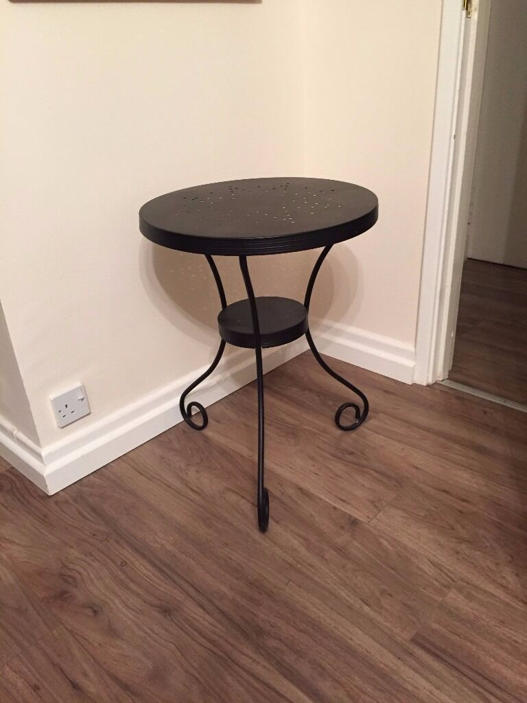 Ikea Noresund Black Nightstand Side Table In Gateshead Tyne And  # Meuble Tv Kaorka Ikea