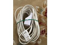 Telephone extension lead cable 5m