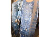 Maria B inspired lawn suit- blue