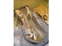 Gold sparkly 'Head over heels' shoes by Dune. Size 38/5