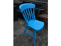 Set of 2 painted wooden farmhouse chairs