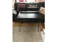 Black Fold Flat Desk Almost New