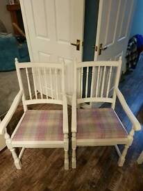 Stunning dining chairs.rustic price lowered