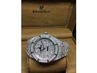 Brand new audemars piguet ap rolex Cartier watch diamond automatic Black limited edition