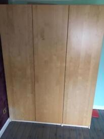 Pax IKEA Wardrobes 1 double 1 single