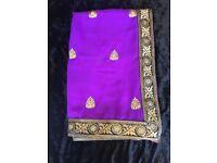 Ladies clothes Purple saree