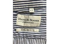 Haines & Bonner Shirts 👔 x 2 size 17 both for £7