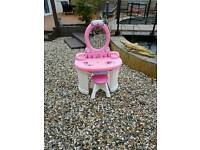 Girls vanity stand and chair