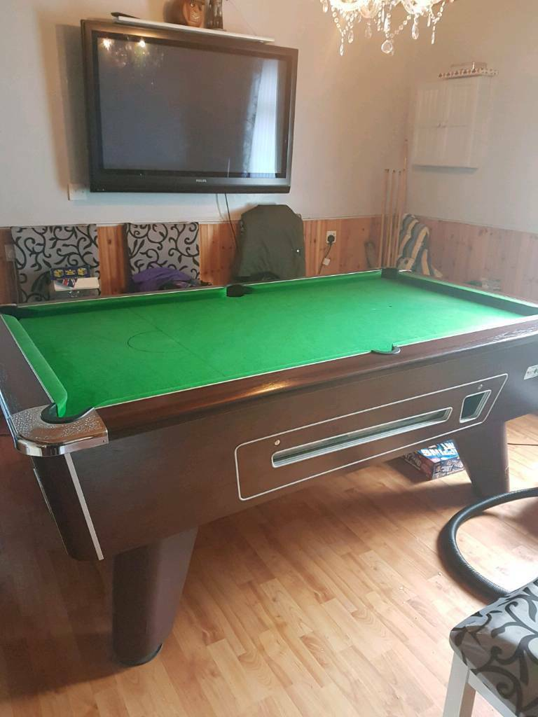 Xft Italian Heavy Slate Bed Competition Speed Pool Table In - Competition pool table