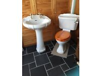 Bathroom sink and w.c.