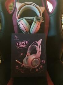 Pink gaming head set