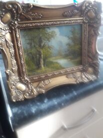ANTIQUE OIL PAINTING SIGNED C. INNESS.