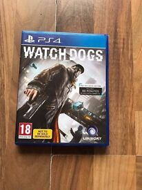 watchdogs , ps4 , as new ! price stands , no offers !