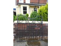 Single wrought iron gate from 1903 house very heavy original condition