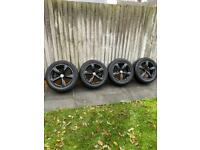 Vw t5 18 inch black alloy wheels