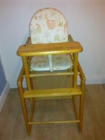 Baby highchair, feeding chair, table and chair