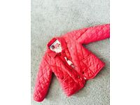 Girls pink joules coat